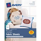 "Avery® Printable Fabric, 8-1/2"" x 11"", Inkjet Printers, 5 Sheets (3384) - A4 - 8 1/2"" x 11"" - Matte - 5 / Pack - White"