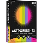 """Astrobrights Colored Cardstock - """"Happy"""" 5-Color Assortment - Letter - 8 1/2"""" x 11"""" - 65 lb Basis Weight - 250 / Pack - Cosmic Orange, Solar Yellow, Terra Green, Venus Violet, Fireball Fuschia"""