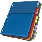 "Cardinal Expanding Pocket Poly Divider - 5 x Divider(s) - 5 Tab(s)/Set - 9.80"" Divider Width x 11.50"" Divider Length - Letter - 8 1/2"" Width x 11"" Length - 3 Hole Punched - Translucent Poly Divider - Multicolor Poly Tab(s) - 5 / Set"