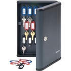 "Steelmaster Security Key Cabinet - 8.5"" x 2.4"" x 11.6"" - Key Lock - Charcoal - Steel - Recycled"