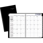 """At-A-Glance Planner - Yes - Monthly - 1.1 Year - December 2020 till January 2022 - 1 Month Double Page Layout - 7 7/8"""" x 11 7/8"""" Sheet Size - Wire Bound - Black - Paper - Bilingual, Hard Cover - 1 Each"""