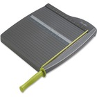 "Swingline 93121 Guillotine Paper Trimmer - Cuts 10Sheet - 12"" (304.80 mm) Cutting Length - 2.12"" (53.85 mm) Height x 12.75"" (323.85 mm) Width x 16.75"" (425.45 mm) Depth - Plastic, Steel Blade - Gray"