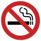"""Headline 9602 No Smoking Sign - 1 Each - 6"""" (152.40 mm) Width x 6"""" (152.40 mm) Height - Square Shape - Black, Red Print/Message Color - Self-adhesive - White"""