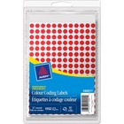 """Avery® 14001 Color Coding Label - Removable Adhesive - 1/4"""" Diameter - Circle - Inkjet, Laser - Red - 1152 / Box"""