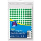"""Avery® Color Coding Label - Removable Adhesive - 5/16"""" Diameter - Circle - Laser, Inkjet - Green - 1152 / Box"""