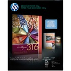 "HP Inkjet Print Brochure/Flyer Paper - Letter - 8 1/2"" x 11"" - 48 lb Basis Weight - Matte - 1 / Pack - White"
