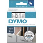 """Dymo D1 Electronic Tape Cartridge - 1/2"""" Width x 23 ft Length - Rectangle - Thermal Transfer - Clear - Polyester - 1 Each"""