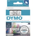 "Dymo D1 Electronic Tape Cartridge - 1"" Width x 23 ft Length - White - 1 Each"
