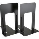 """Business Source Heavy-gauge Steel Book Supports - 8.5"""" Height x 9"""" Width x 6"""" Depth - Desktop - Black - Steel - 2 / Pair"""