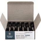 "Business Source Fold-back Binder Clips - Small - 0.75"" (19.05 mm) Width - 0.4"" Size Capacity - 12 / Dozen - Black - Steel"