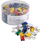 """Business Source Colored Fold-back Binder Clips - Mini - 0.56"""" (14.29 mm) Width - 0.3"""" Size Capacity - 100 / Pack - Assorted - Steel"""