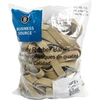 """Business Source Quality Rubber Bands - Size: #105 - 5"""" (127 mm) Length x 0.63"""" (15.88 mm) Width - Sustainable - 60 / Pack - Rubber - Crepe"""