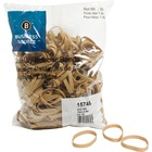 """Business Source Quality Rubber Bands - Size: #62 - 2.50"""" (63.50 mm) Length x 0.25"""" (6.35 mm) Width - Sustainable - 450 / Pack - Rubber - Crepe"""