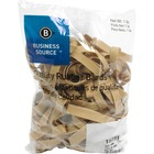 "Business Source Quality Rubber Bands - Size: #84 - 3.50"" (88.90 mm) Length x 0.50"" (12.70 mm) Width - Sustainable - 150 / Pack - Rubber - Crepe"