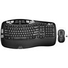 Logitech MK550 Wireless Wave Keyboard/Mouse Combo - USB Wireless RF Keyboard - 117 Key - USB Wireless RF Mouse - Laser - Scroll Wheel - Email, Internet Key Hot Key(s) - AA (PC)