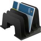 "Business Source Large Step Incline Organizer - 9"" Height x 9.1"" Width x 13.4"" Depth - Desktop - Recycled - Black - Plastic - 1 / Each"