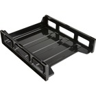 Business Source Front-Load Stackable Letter Tray - Desktop - Recycled - Black - Plastic - 1 / Each