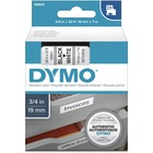 """Dymo D1 Electronic Tape Cartridge - 3/4"""" Width x 22 63/64 ft Length - Thermal Transfer - White - Polyester - 1 Each"""