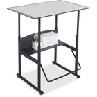 "Safco AlphaBetter Desk, 36 x 24 Premium Top, w/o Book Box - 36"" Table Top Width x 24"" Table Top Depth x 0.4"" Table Top Thickness - 42"" Height - Assembly Required"