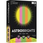 "Astrobrights Color Paper - ""Neon"" 5-Color Assortment - Letter - 8 1/2"" x 11"" - 24 lb Basis Weight - 500 / Ream - Assorted, Vulcan Green, Martian Green, Pulsar Pink, Lift-off Lemon"