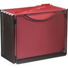 "Safco Onyx Steel Mesh Desktop File Box - 10"" Height x 12.5"" Width x 7"" Depth - Black - Steel - 1Each"