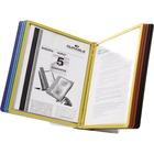 """DURABLE Vario Desk Reference System - Desktop - 10 Panels - Support Letter 8.50"""" (215.90 mm) x 11"""" (279.40 mm) Media - Assorted - Metal Base, Polypropylene Panel - 1 Each"""
