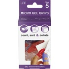 "LEE Tippi Micro-Gel Fingertip Grips - #5 with 0.62"" (15.75 mm) Diameter - Small Size - Assorted - 10 / Pack"