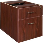 "Lorell Essentials Pedestal - 15.5"" x 21.9"" x 18.9"" - 2 x Box Drawer(s), File Drawer(s) - Double Pedestal - Finish: Laminate, Mahogany"