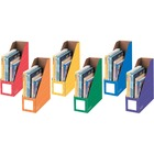 """Bankers Box 4"""" Magazine File Holders - Assorted - 6 Pack"""