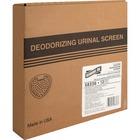 Genuine Joe Deluxe Urinal Screen - Cherry - Lasts upto 45 Day - 12 / Box - White