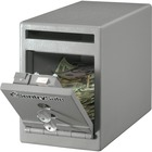 "Sentry Safe Dual Key Lock Under Counter Safe - 7 L - Dual Key Lock - Theft Resistant - Internal Size 6.5"" x 5.8"" x 10.5"" - Overall Size 8.5"" x 6"" x 12.3"" - Gray - Steel"