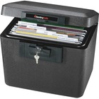 "Sentry Safe Security Fire File - Key Lock - Fire Resistant - Overall Size 13.6"" x 15.3"" x 12.1"" - Black - Steel"