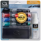 Quartet Endura-Glide Dry-Erase Marker Kit - Chisel Marker Point Style - Red, Blue, Green, Black - 1 Set