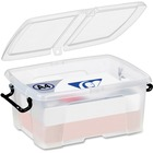 "Greenside Smart Storage Box - Internal Dimensions: 9.75"" (247.65 mm) Width x 13.75"" (349.25 mm) Depth x 6.50"" (165.10 mm) Height - External Dimensions: 11.3"" Width x 16"" Depth x 7.3"" Height - 12 L - Polypropylene - Clear - For Stationary - 1 Each"