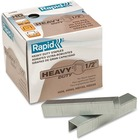 """Rapid Heavy Duty Staples - 100 Per Strip - Heavy Duty - 1/2"""" Leg - 1/2"""" Crown - Holds 60 Sheet(s) - for Paper - Galvanized, Chisel Point5000 / Box"""