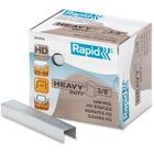 "Rapid Heavy Duty Staples - 100 Per Strip - Heavy Duty - 3/8"" Leg - 1/2"" Crown - Holds 60 Sheet(s) - Galvanized, Chisel Point5000 / Box"