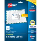 """Avery® Shipping Label - Permanent Adhesive - 3 1/2"""" Width x 5"""" Length - Rectangle - Inkjet - White - Paper - 4 / Sheet - 100 / Pack"""