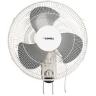 "Lorell Pull-chain Wall Mounting 3-speed Fan - 16"" Diameter - 3 Speed - Adjustable Tilt Head, Oscillating - 18.50"" (469.90 mm) Height x 9.25"" (234.95 mm) Width x 18.11"" (460.02 mm) Depth - White"