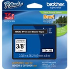 "Brother P-touch TZe Laminated Tape Cartridges - 3/8"" Width - White - 1 / Each"
