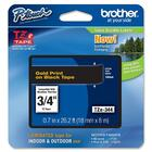 "Brother P-Touch TZe Flat Surface Laminated Tape - 3/4"" Width - Gold - 1 / Each"