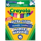 Crayola Washable Marker - Broad Marker Point - Conical Marker Point Style - 16 / Pack