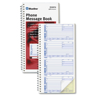"Blueline 400 Message Book - 100 Sheet(s) - 2 PartCarbonless Copy - 5 3/4"" x 11 1/8"" Sheet Size - White Sheet(s) - White Cover - 2 / Pack"