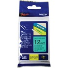 """Brother P-touch TZE731 Label Tape - 15/32"""" Width x 26 1/4 ft Length - Rectangle - Thermal Transfer - Green - 1 Roll"""