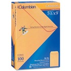 "Columbian Catalog Envelopes - Catalog - 5 7/8"" Width x 9"" Length - 24 lb - Gummed - Kraft - 100 / Box - Brown"