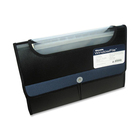 "Winnable 13-Pocket Expanding Poly Window File - Letter - 8 1/2"" x 11"" Sheet Size - 13 Pocket(s) - Poly - Blue, Black - 1 Each"