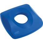 Rubbermaid Untouchable Bottle & Can Recycling Top - Square - Plastic - 1 Each - Blue