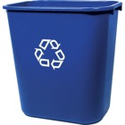 """Rubbermaid 2956-73 Deskside Recycling Container - 26.62 L Capacity - Rectangular - 15"""" Height x 10.3"""" Width x 14.4"""" Depth - Plastic - Blue"""