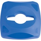 Rubbermaid Commercial Square Recycling Container Combo Lid - Square - Plastic - 1 Each - Blue