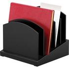 Victor Midnight Black Collection Incline File Sorter - Desktop - Black - Wood - 1Each