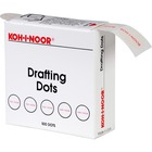 "Koh-I-Noor Drafting Dots - 0.88"" (22.2 mm) Dia - Paper - Self-adhesive, Removable, Residue-free - Dispenser Included - 1 / Box - White"
